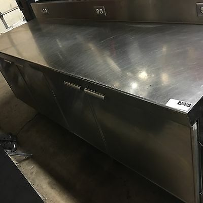 "96"" Deerfield Commerical 4 Door Prep Table Refrigerator Cooler - See pics"