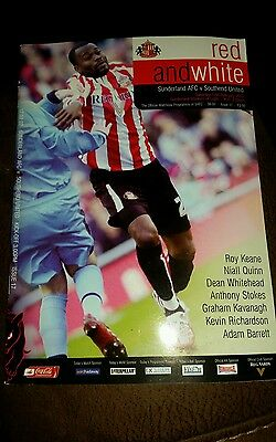 Sunderland v Southend Match day programme 17/2/2007