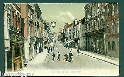 WINCHESTER,THE HIGH STREET F G O NO 572, vintage postcard
