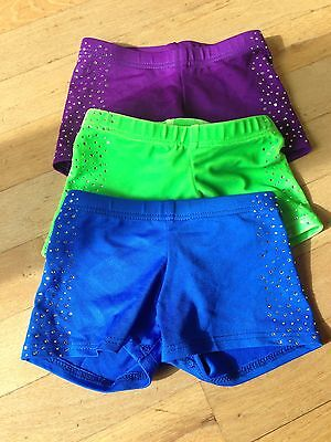 Lot Girls Dance Shorts Size 4 - 6 S Small Toddler Rhinestone Cheer Gymnastics