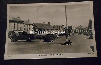 Bedfordshire: Biggleswade : The Market Place  - 1960 Real Photo Tuck Postcard