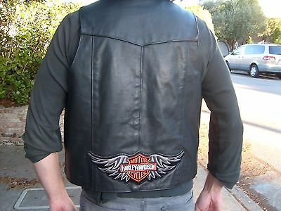 HARLEY DAVIDSON LEATHER VEST size 50 in excellent condition