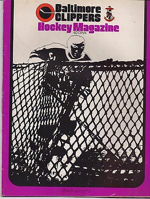 ICE HOCKEY PROGRAMME - BALTIMORE CLIPPERS v VIRGINIA RED WINGS 1972-73