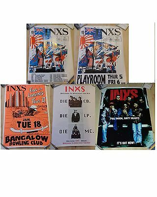 5 INXS original bill posters collected over years live Michael Hutchence Rare