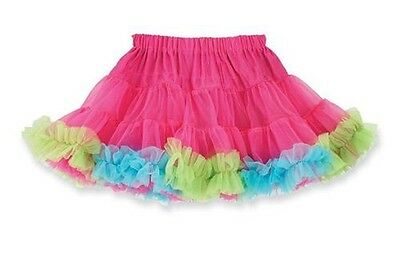 Mud Pie Tiny Dancer Hot Pink / Blue / Green Multi-Color Tutu Pettiskirt 173816