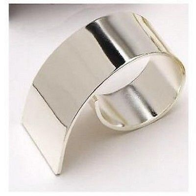 Silver Swirl Napkin Rings, Sets of Four, Six or Eight