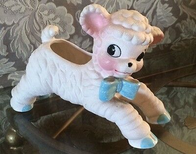 National Potteries Co. Lamb Planter Made in Japan