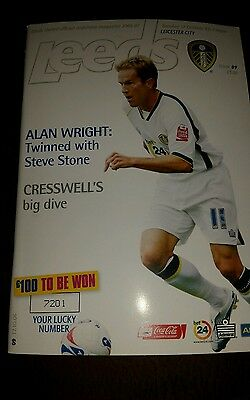 Football Programme LEEDS UNITED v LEICESTER CITY 17.10.2006