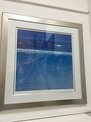 Into The Blue Framed Print Limited Edition 70 X 70 cm Silver Frame