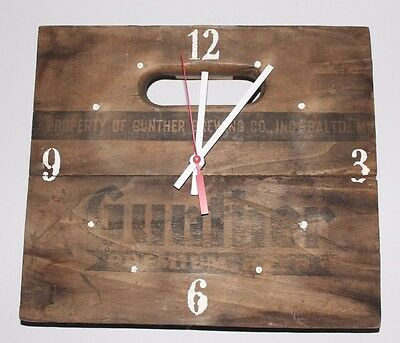 Gunther Beer, Baltimore, MD, Vintage Crate Clock