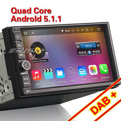 Android 5.1 double 2 din Autoradio GPS Navigation DAB+USB SD 3G WiFi DVR TNT-IN