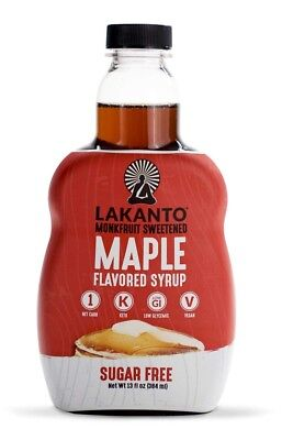 Lakanto Sugar Free Maple Flavored Syrup 384 ml, Low Carb, Diabetic, Monk Fruit