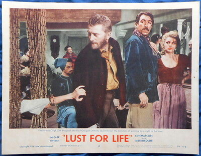 LUST FOR LIFE Kirk Douglas & Anthony Quinn as Van Gogh and Gauguin lc #2 1956