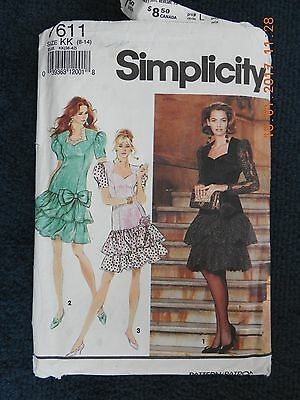 Simplicity 7611. Vintage Uncut Sewing Pattern From 1991. Evening Outfit. Size 8,