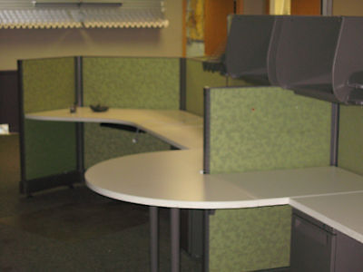 Herman Miller Action Office 2 System AO2 4 Cubicles Space Saving Open Ended