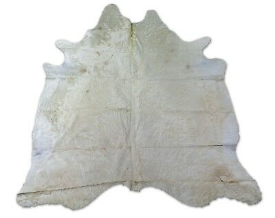 Gorgeous Gray Tricolor Goat Skin Size: 33 X 28 in Long Hair Sheep Hide D-491