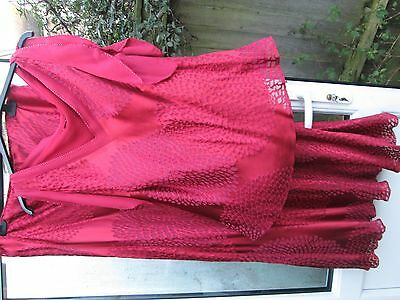Monsoon ladies silk mix party evening suit skirt and top size 20