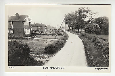 Bedfordshire: Church Road, Westoning - Frith's #WTG.10 RP PC (726)