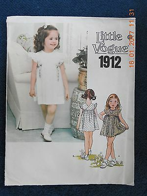 Little Vogue 1912 Vintage Uncut Sewing Pattern From The 1980S Or 1990S. Dress &