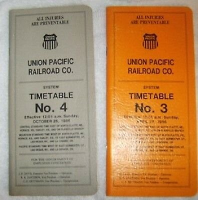 Collectable 2-  Union Pacific Railroad Employee  Timetables