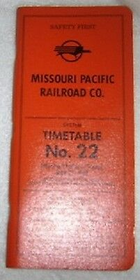 Collectable 1984 Missouri Pacific Railroad Employee  Timetable