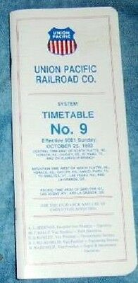 1992 Union Pacific RR Employee Timetable