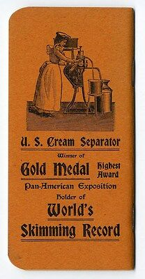 VERMONT FARM MACHINE U S Cream Separator Booklet 1903 Products Calendar VERMONT