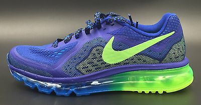 New Nike Air Max Running Shoes Blue Green Youth 6.5Y Women's 8