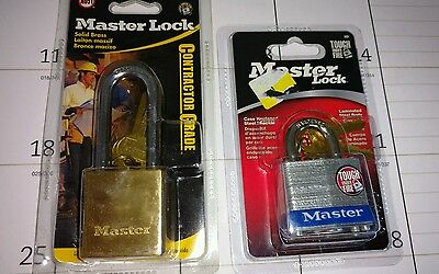 Master Padlock Lot, New In Package