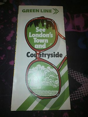 London Country Green Line Bus Map & Guide 1980