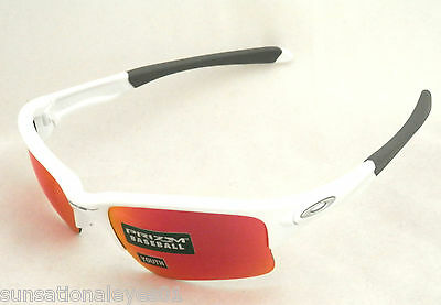 *new* Oakley Quarter Jacket Youth Fit Oo9200-09 White W/ Prizm Baseball Lens