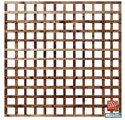 """Square Garden Trellis 6ft Wide Pressure Treated 4"""" Hole Timber Garden All Sizes"""