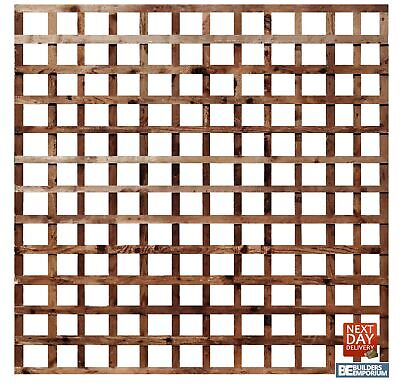"Trellis Panel Square Garden 6ft Wide Pressure Treated 4"" Hole Timber All Sizes"