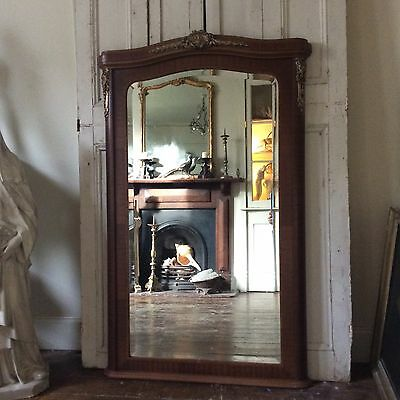 Antique French Fruitwood Mirror Circa 1910