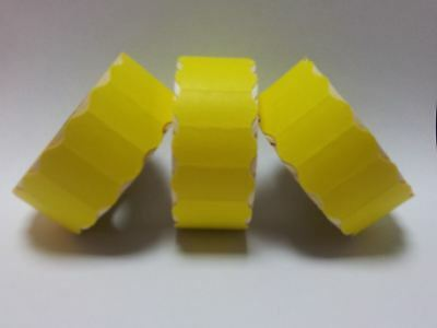 12,000 Yellow Peel Price Gun Labels - 26mm x 16mm - CT7