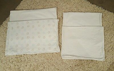 Boys or girls flannelette cot bed sheets and moses basket sheets
