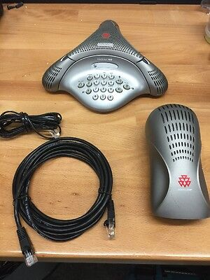 Polycom VoiceStation 100 Conference Phone (2201-06846-001 H) + Power Supply