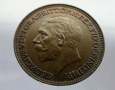 George V Farthing 1933- Excellent Condition