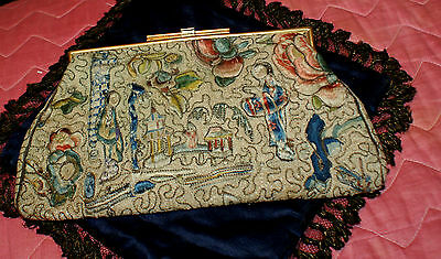 Antique embroidered Chinese bag/purse. Exquisite embroidery.