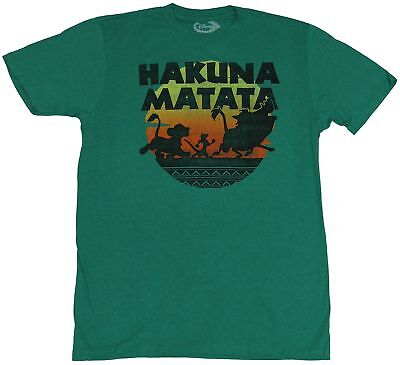 5b612596 The Lion King Mens T-Shirt - Hakuna Matata Colorful Sunset March Silhouette
