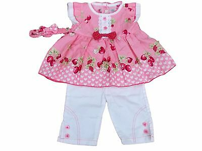 BNWT Baby girl summer Long top & trouser set Clothes outfit  0-3m 3-6m or 6-9m