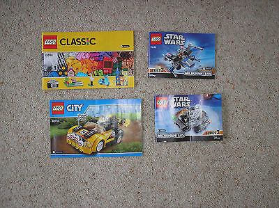 Lego Classic. City And Lego Star Wars Instruction Manuals