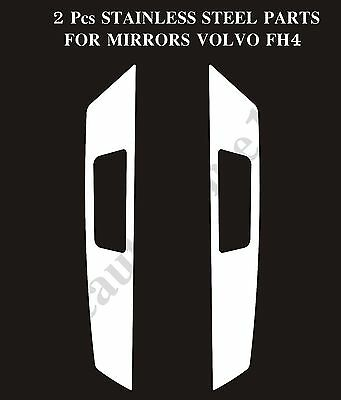 Set Of 2 Pcs. Mirror Covers Decoration Made Of Stainless Steel For VOLVO FH4