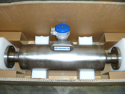 "3"" Krohne Optimass 1000 S50 Mass Flow Meter w/ Converter & Calibration 2011NEW"