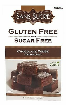Sans Sucre Gluten Free & Sugar Free Brownie Mix Chocolate Fudge, Low Carb