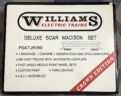 WILLIAMS  Deluxe  5 Car MADISON  Electric Trains Set-NEW