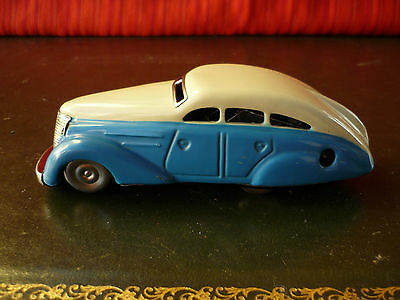 Scarce Two-tone 1940's US Zone SCHUCO 1010 Tin Wind-up Non-fall Wende-limousine