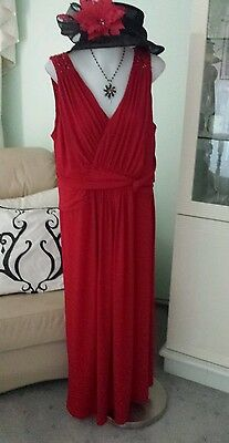Stunning Red Dress With Beaded Shoulders