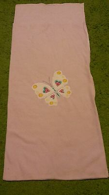 Childrens pink fleece sleeping bag
