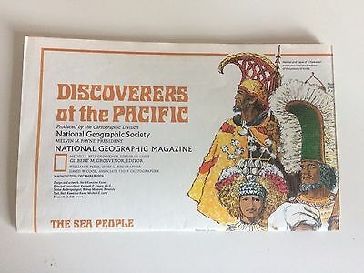 Vintage Islands of the Pacific Ocean National Geographic Magazine Paper Map 1974